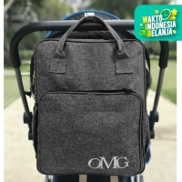 Tas Perlengkapan Bayi Diaper Bag Backpack Travel Susu Waterproof OMG