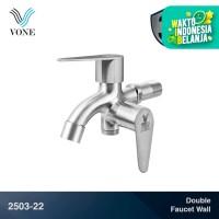 VONE 2503-22 Keran Kran Air Double Cabang Tembok Shower Stainless