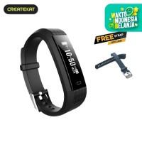 Createkat Smart Band Peringatan Panggilan dan SMS Smartwatch - Hitam