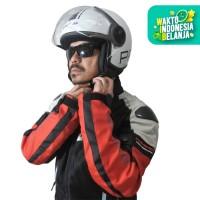 Helm Cargloss YR Protect Visor Hardcoat Helm Half Face- Sp.Whity White