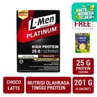 L-Men Platinum Choco Latte Box (6 Sch) FREE Lokalate Kopi Alpukat