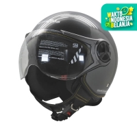 Helm Cargloss YR HC Ghotic Helm Half Face - Anchor Grey
