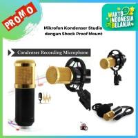 Microphone Kondenser Studio dengan Shock Proof Mount