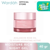 Wardah Hydra Rose Moisture Rich Night Gel 40 gr