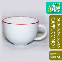 CAPPUCCINO I Cup White Red Speckle 500 ML