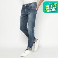 Papperdine 712 V.Indigo Slim Fit Celana Panjang Jeans Pria Selvedge - 32