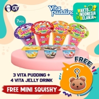 Vita Jelly Drink - 150ml - [Bundle 4 Pcs] +Vita Pudding (Bundle 3 Pcs)