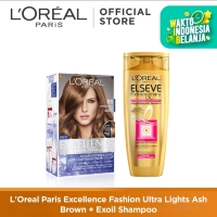 L'Oreal Paris Excellence Fashion Ultra Lights Cat Rambut+Exoil Shampoo
