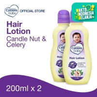 Cussons Baby Hair Lotion Candle Nut & Celery 200ml Twin Pack
