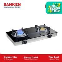 Sanken SG-363 Kompor Gas 2 Tungku Kaca Kompor Dua Tungku