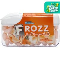 FROZZ Orange Mint permen bebas gula rendah kalori dingin menyegarkan