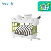 freemir Rak Piring Plastik Premium Pengering Cuci Piring Serbaguna - 2 level