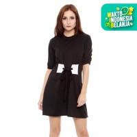Yoenik Apparel Front Girdle Dress Black M13086 R27S1