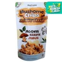 Mushome Chips - Keripik Jamur Tiram Jagung Bakar - 80gr