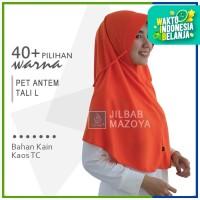 Jilbab Instan Pet Antem Tali SIze L / Hijab Kaos Bergo Anthem Size L