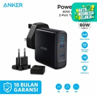 Wall Charger/Travel Adaptor Anker Powerport III 2Port-60W - A2629