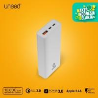 UNEED QuickBox 109 Mini Powerbank 10000mAh QC 3.0 + PD 18watt - UPB109