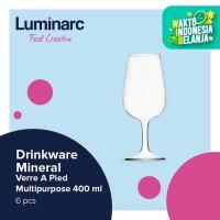 Luminarc Drinkware Mineral - Verre A Pied Multipurpose 400ml - 6pcs - BENING