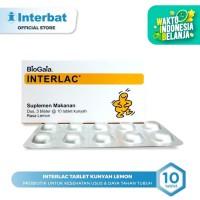 Interlac Probiotik Tablet Kunyah Lemon - 3 blister @10 tablet