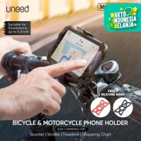 UNEED Bicycle Motorcycle Phone Holder Stand HP Sepeda Motor - UPH601