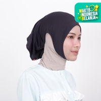 Zoya Inner Kerudung Ciput Hijab - Ciput Telinga Naya Black