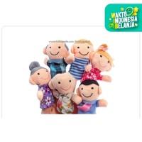 boneka jari family,boneka main bayi balita, boneka edukasi
