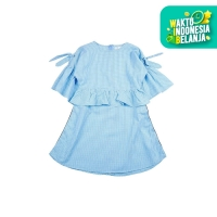 KIDS ICON - Dress Anak Perempuan CURLY Ruffle and Ribbon - LYD00100190