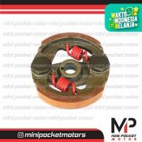 Kampas Ganda Racing Merah Per 2 Merah 49cc 2Tak Mini GP Mini Trail