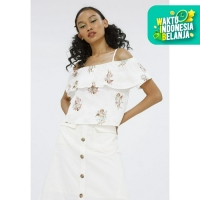 Colorbox Cold Shoulder Blouse With Flare I:Bswfcr120F010 White