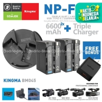 KINGMA Paket Complete Battery Charger Set NP-F970 NP-F960 NP-F750 F550