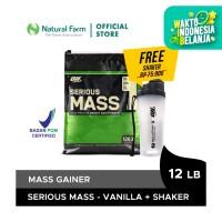 Optimum Nutrition Serious Mass (12 Lb) Vanilla + Free Shaker