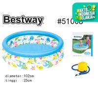 Bestway 51008 Kolam Anak [102 x 25cm ] + Pompa Injak / Kolam Anak