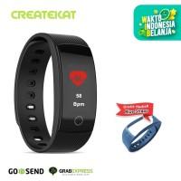Createkat Smart Band Pemantau Denyut Jantung Smartwatch Hitam Katfit1 - Hitam
