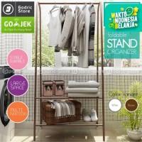 Curved Stand Hanger Rak Serbaguna Lemari Buku Pakaian Jemuran Baju