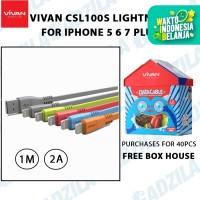 Kabel Data Vivan CSL100S iPhone Apple 5 6 7 Plus USB Lightning CSL100s