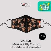 VOU masker kain 2 PLY Plus non medis reusable – Batik