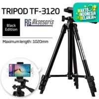 Tripod 3210 FULL BLACK 1Meter + Holder U Universal Weifeng
