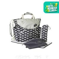 Okiedog Sumo Diaper Bag - Blossoms Grey