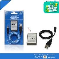 Battery Baterai Batre Stik Stick PS4 2000mAh + Kabel Data Charger