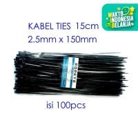 Kabel Ties 15cm 100pcs Nylon Cable 2.5 x 150 mm 15 Tali Pengikat Tis