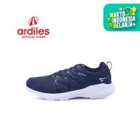 Ardiles Men Robtras Sepatu Sneakers - Abu Tua Hitam - Abu Tua Hitam, 38