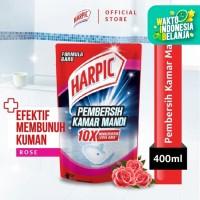 Harpic Pembersih Kamar Mandi Rose 400ml Pouch - Efektif Membunuh Kuman