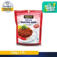 Pronas Abon Sapi Rasa Pedas 100 g dengan kemasan Ziplock