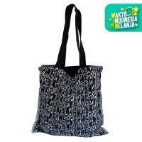The KiliSuci Batik & Craft Totebag Tenun Motif Etnig Navy - Tali Hitam