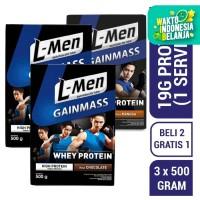 Buy 2 Get 1 FREE - 2x L-Men Gain Mass Chocolate 500gr FREE Mangga 500g