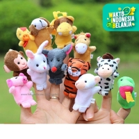 boneka jari 12 shio animal,boneka jari binatang, finger puppet