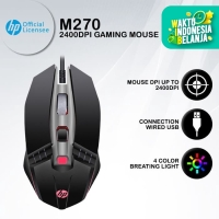 Mouse Gaming HP M270 - 2400DPI RGB Macro Programmable