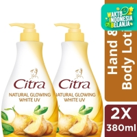Citra Hand Body Lotion Glowing White Uv 380Ml Twin Pack