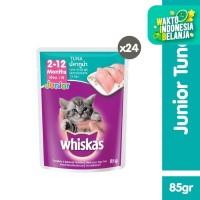 [isi 24 Pack] Whiskas Pouch Junior 85gr Makanan Kucing rasa Tuna