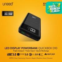 UNEED Powerbank D10 10000mAh LED Indicator QC 3.0,PD,VOOC-UPB105